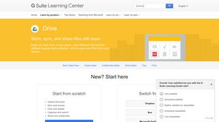 Google Drive | Learning Center | G Suite