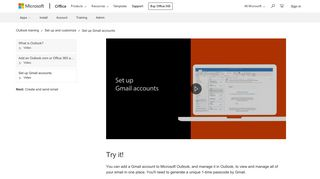 Video: Set up Gmail accounts - Outlook - Office Support - Office 365