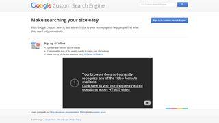 Google Custom Search Engine