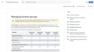 Managing location groups - Google My Business Help - Google Support