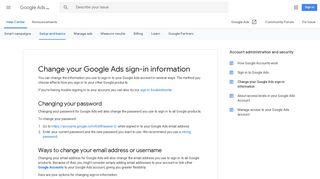 Change your Google Ads sign-in information - Google Ads Help
