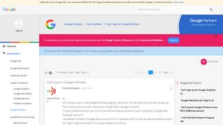 Can't sign in Google Partners - The Google Advertiser Community ...