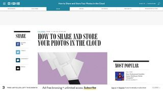 How to Share and Store Pictures with Google Photos, Dropbox ... - Wired