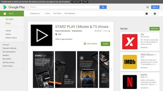 STARZ PLAY | Movies & TV shows - Apps on Google Play