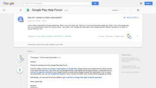 How do I cancel my Starz subscription? - Google Product Forums