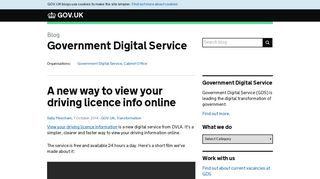 A new way to view your driving licence info online - GDS blog - GOV ...