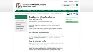 GradConnect offers of employment - WA Health