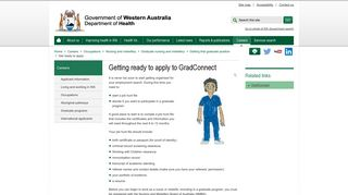 Getting ready to apply to GradConnect - WA Health