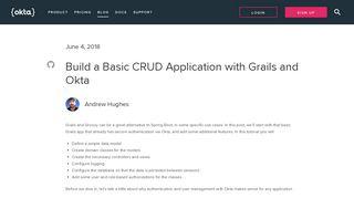 Build a Basic CRUD Application with Grails and Okta   Okta Developer