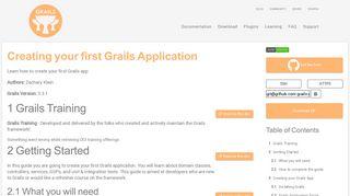 Creating your first Grails Application   Grails Guides   Grails Framework