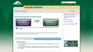 Green River Student E-mail Accounts - Student Affairs - Green River ...