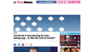 Facebook is introducing its own dating app - is this the end of Grindr ...