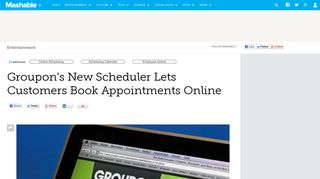 Groupon's New Scheduler Lets Customers Book Appointments Online