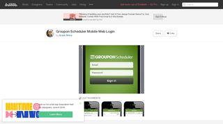 Groupon Scheduler Mobile Web Login by Arash Shiva   Dribbble ...