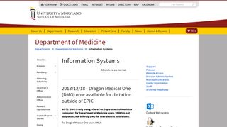 Information Systems Welcome to the Department of Medicine ...