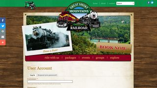 User account | Great Smoky Mountains Railroad