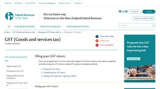 Filing your GST return - IRD
