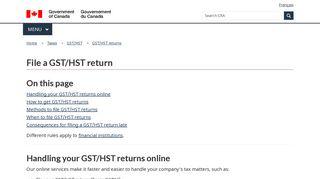 File a GST/HST return - Canada.ca