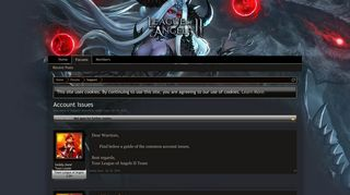 Account Issues | League of Angels 2 EN - Bigpoint