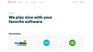 Payroll Software Integrations   Gusto