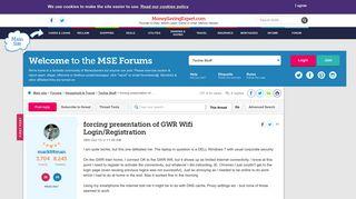 forcing presentation of GWR Wifi Login/Registration ...