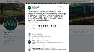 GWR Help on Twitter: