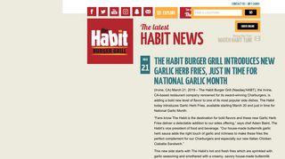 The latest Habit News   Habit Burger
