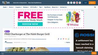 FREE Charburger at The Habit Burger Grill - Hip2Save