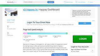 Access v2.happay.in. Happay Dashboard