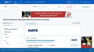 Hays Specialist Recruitment Limited jobs - reed.co.uk