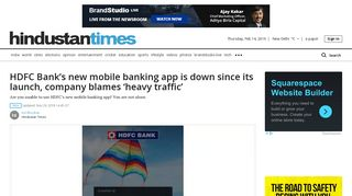 HDFC Bank's new mobile banking app is down since its launch ...
