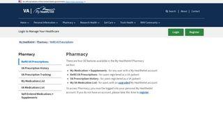 Refill VA Prescriptions - My HealtheVet