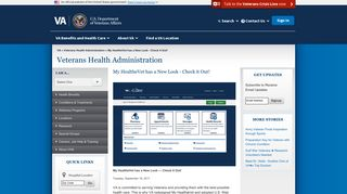 My HealtheVet has a New Look - Check it Out! - Veterans ... - VA.gov