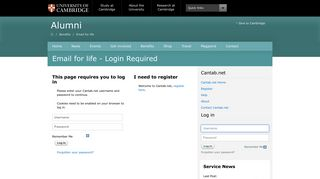 Login Required - Email for life