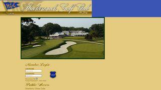 Login - Hackensack Golf Club