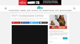 HGTV Sweepstakes Central | HGTV