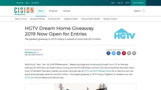 HGTV Dream Home Giveaway 2019 Now Open for Entries