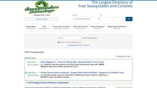 HGTV Sweepstakes | HGTV Contests - Sweepstakes Advantage