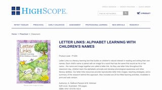 letter links: alphabet learning with children's names - HighScope