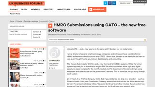 HMRC Submissions using CATO - the new free software | UK Business ...