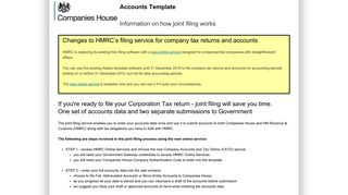 Information on how joint filing works - Companies House WebFiling