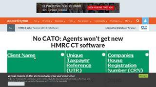 No CATO: Agents won't get new HMRC CT software | AccountingWEB