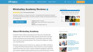 Mindvalley Academy Reviews - Is it a Scam or Legit? - HighYa