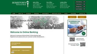 Log In | HomeTown National Bank