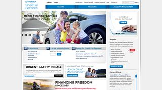 Honda Financial Services: Financing, Lease and Warranty Options