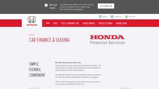 Car Finance & Leasing   Deals & Options   Honda UK