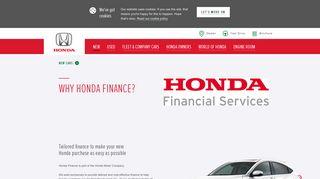 Why Honda Finance? - Honda UK
