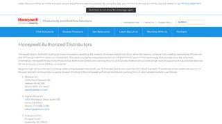Honeywell Authorized Distributors | Honeywell - Honeywell AIDC