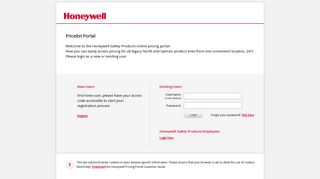 Login - User Portal - Honeywell Safety Products