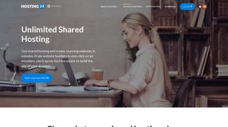 Unlimited Shared Hosting - Reliable Web Hosting Solution by Hosting24